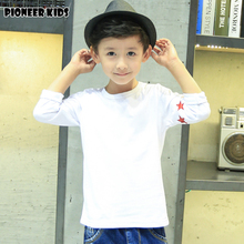 Pioneer Kids 2016 New boys cotton t-shirt boy t shirt striped long sleeve tops kids clothes autumn new wear for new season(China)