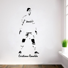 Cristiano Ronaldo Football Player Sticker Sports Soccer Posters Vinyl Cut Wall Decals Cristiano Ronaldo Football Sticker
