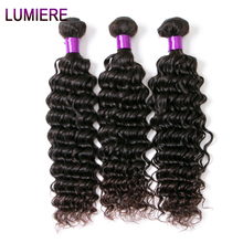 Lumiere Hair Indian Deep Wave Hair Weave Bundles 100% Human Hair Non Remy Hair Extensions Natural Black One Bundle Free Shipping(China)