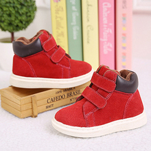 New Boys Winter Children Snow Boots Ankle Martin Boot Shoes For Girls Genuine Leather Sneakers Flat Sapato Infantil Kids Booties