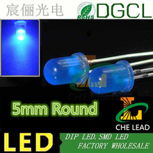 Round Chip LED Blue color diode 5mm Diffused light bulb 460-475nm dip led 15-20mA(CE&Rosh)