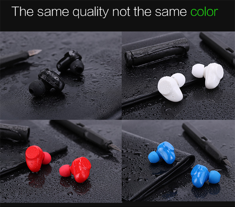 LEORY IPX6 Waterproof Bluetooth Earbuds Earphone Noise Cancelling Mini HIFI Stereo Wireless In-ear Invisible Earphones with Mic