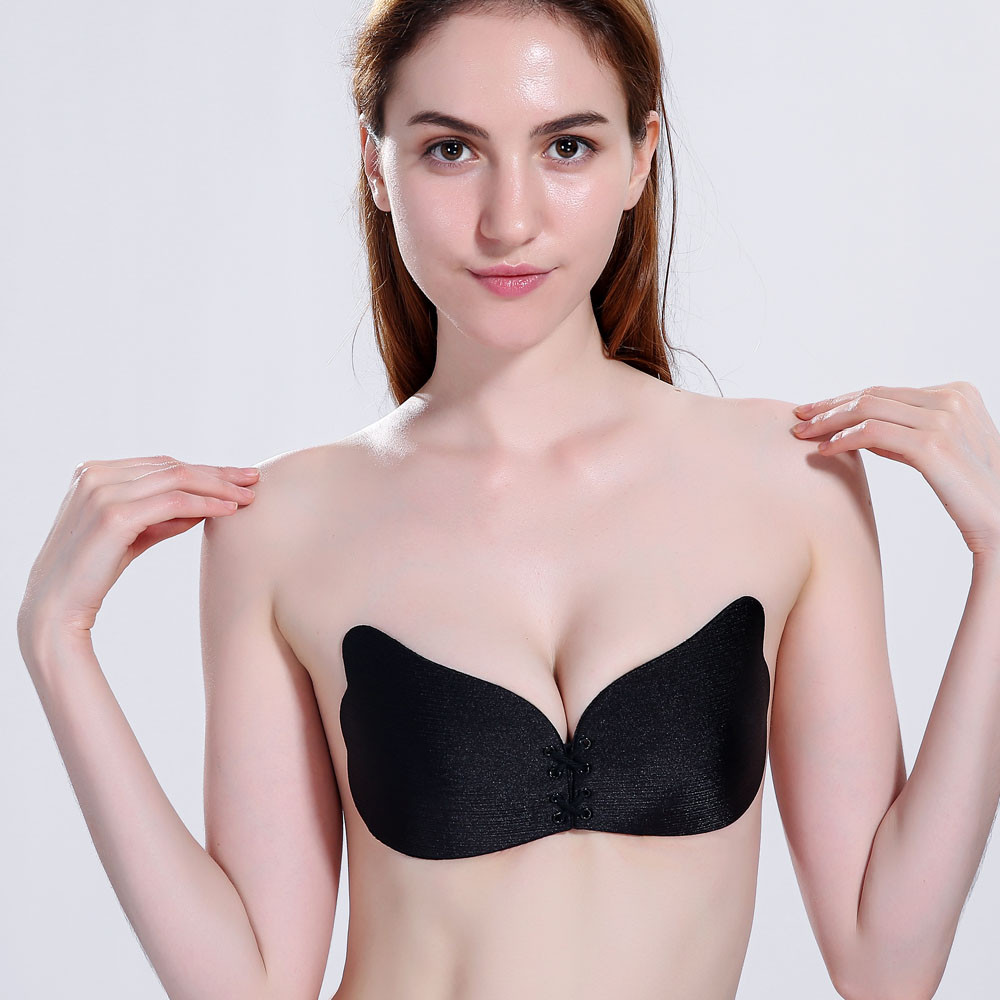 Sexy Lingerie Accessory Breathable Wings Of The Goddess Instant Breast Petals Lift Invisible Silicone Push Up Bra Stickers Apr11 6