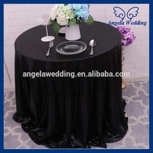 SQ025B Cheap many colors available beaded rectangle glitter black sequin table cloth(China)