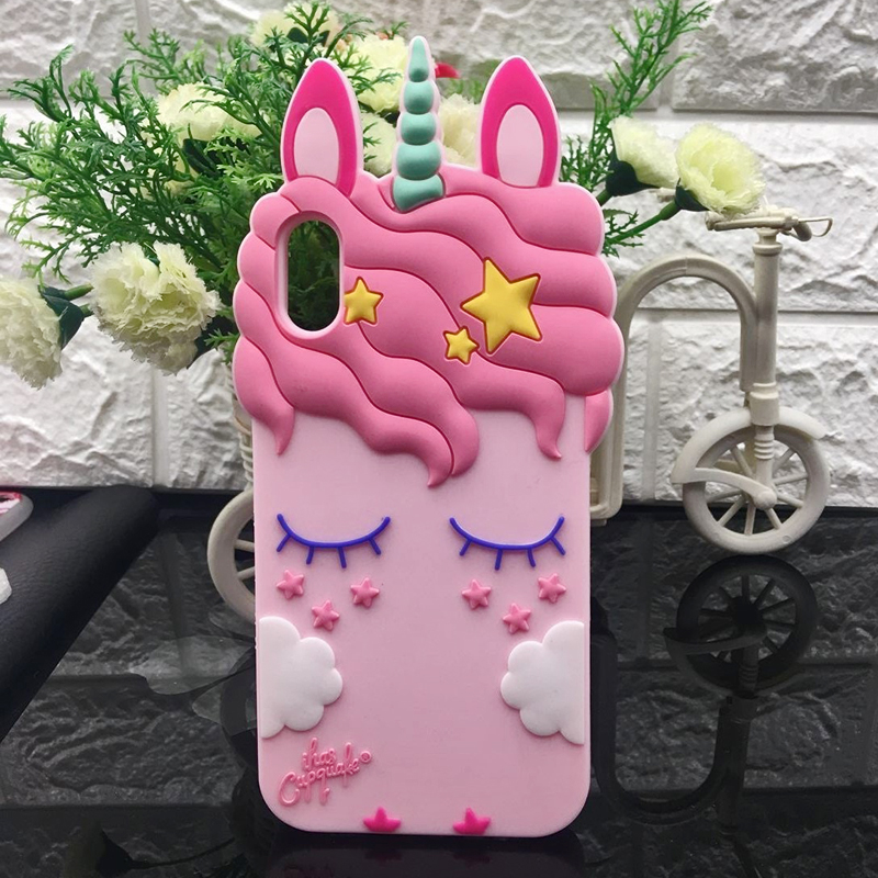 3D Cute Cat Unicorn Dog Rubber Case For iPhone 7 6 6S Plus 5s SE Soft Silicone Cartoon Cover Back For iPhone 8 7 6S 5S X Capa (5)