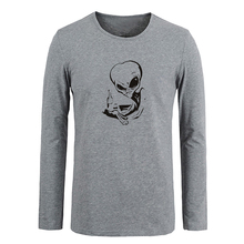 New Unisex Men Autumn Style Halloween Skeletons Cotton Long Sleeve Fashion Type O Negative Design Custom T-shirts Gifts for Boy(China)