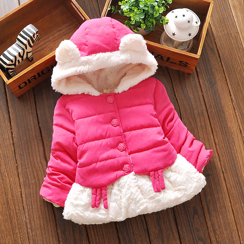2015 New outerwear baby girls cotton Hooded coats Winter Jacket Kids Coat childrens winter clothing Girls Down &amp; Parkas BC009Одежда и ак�е��уары<br><br><br>Aliexpress