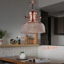 Buy American country loft Nordic personality industry mining iron retro pendant light restaurant aluminum pot hanging light for $161.43 in AliExpress store