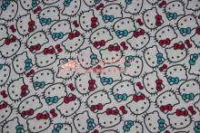 170*100cm lovely Hello Kitty knitted cotton fabric For Sewing diy Patchwork baby shirt clothes trousers Bedding