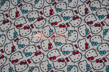 170*100cm lovely Hello Kitty knitted cotton fabric For Sewing diy Patchwork baby shirt clothes trousers Bedding(China)