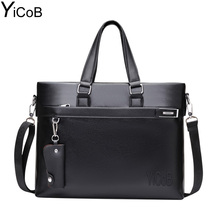 YiCoB Brand Bag Men Business Briefcase PU Leather Messenger Shoulder Bag for Laptop Boy Man Crossbody Bags Male 2017 HOT Handbag