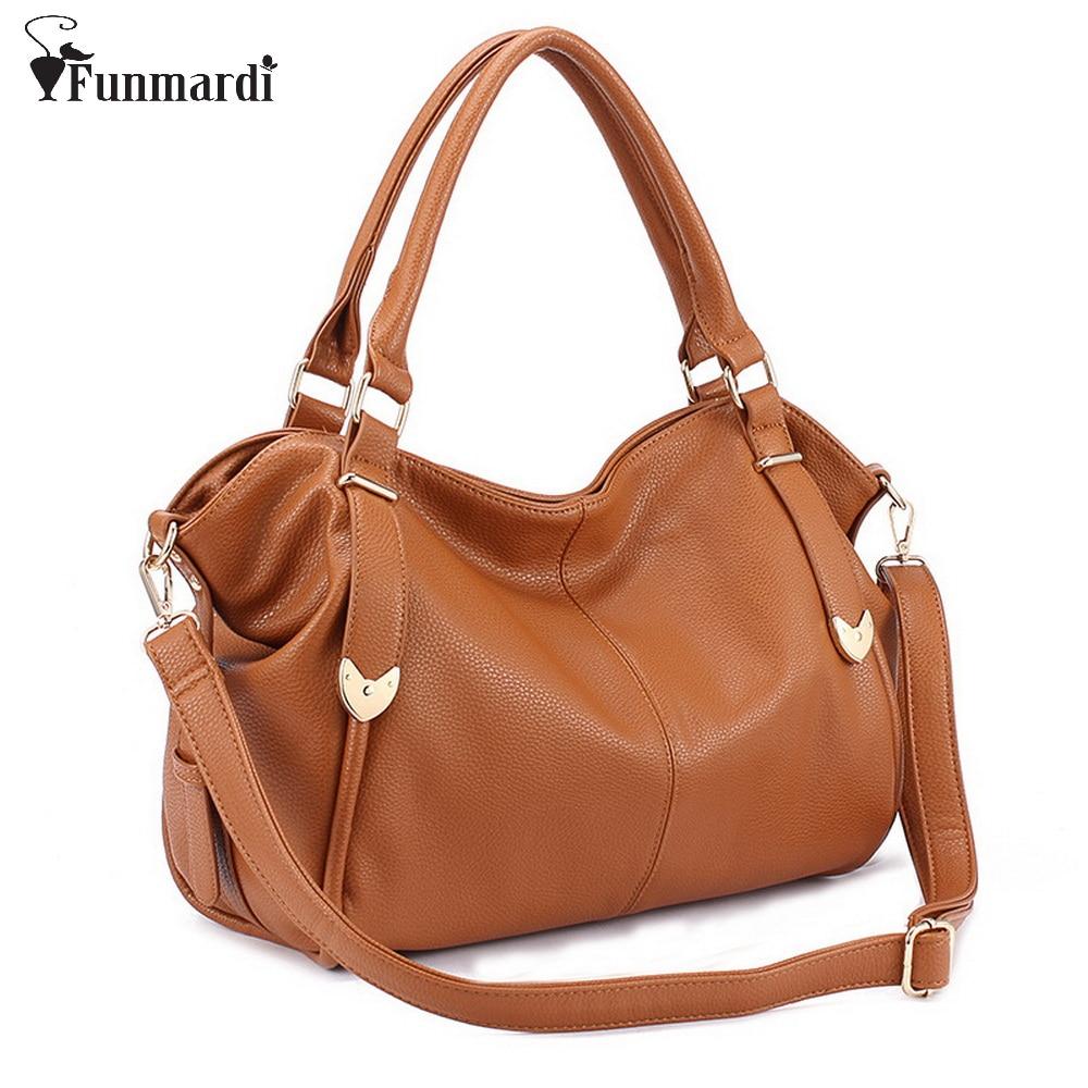 FUNMARDI New 2018 Fashion Split Leather Handbag Luxury Women Bags Good Quality Shoulder Bags Elegance Female Leather Bag WLHB832<br>