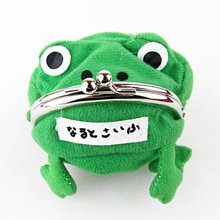 HOT Anime Naruto: Cute Green Frog Coin Bag Cosplay Props Plush Toy Purse Wallet Funny Gift(China)