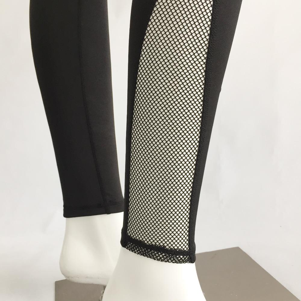 New Women Push-up Sporting Leggings Black Fashion Net Hollow Elastic Skinny Fitness Leggings Sporting Clothing For Women 12
