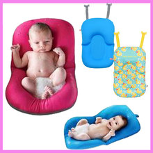 Newborn Infant Baby Shower Non-slip Bath Mat Bath Tub Bed Pillow Pad Air Cushion Floating Soft Safety Seat