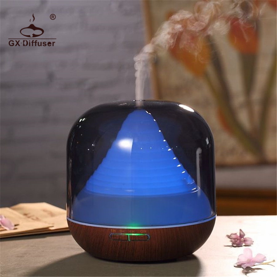 GX.Diffuser Timer 300ml Air Humidifier Essential Oil Diffuser Aroma Diffuser Aromatherapy Air Purifier LED Lamp Fogger for Home<br>
