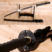 Japanese Samurai Full Tang Katana Sword Hand Crafted T10 Steel Clay Tempered Sharp Blade Pratical Cut Tree(China)