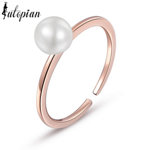 Iutopian Brand Simple Style OL  Simulated Pearl Rings Anel Girl Jewelry Top Quality Anti-Allergy #RG96905