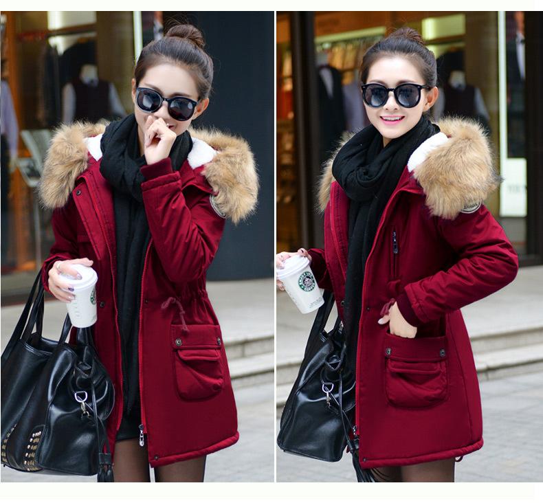 معطف السيدات متوسطة الطويلة 11