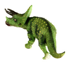 Starz Small Size Hollow Jurassic World Triceratops Plastic Animals Toys Dinosaur Model Action Figures Boys Gift Green Verson