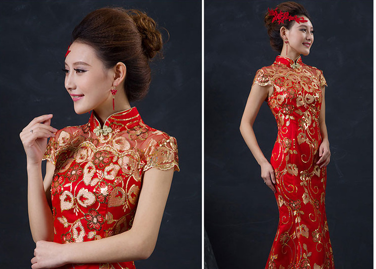Red-Chinese-Wedding-Dress-Female-Long-Short-Sleeve-Cheongsam-Gold-Slim-Chinese-Traditional-Dress-Women-Qipao