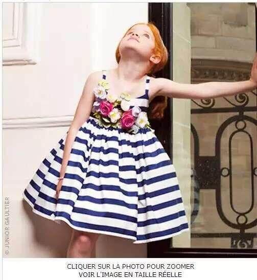 Princess Dress Girl 2016 Designer Girls Summer Dress Kids Costume Stripe Handmade Flowers Kids Dresses for Girls Clothes <br>