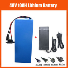 48V 10AH battery 48V 500W 13S Electric Bike battery 48V 10AH Lithium battery with 54.6V 2A charger 15A BMS Free Customs Fee