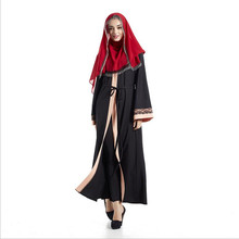 New Arrival Elegant Casual Muslim Abaya Islamic Clothing for Womens Hot Sale Abaya Long Sleeve Fashion Muslim Dress HZS057(China)