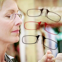 2017 Fashion Mini Nose Clip Reading Glasses Presbyopic Eyeglass Spectacles Resin Len +1.5~+2.5 AUG21_20(China)