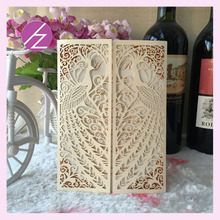 12pcs/lot Creative Door Folds Laser Cut Decoration Raw Material For Wedding Invitation Card many style for choose or custom(China)