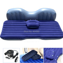 flcoking  material car Back Seat Cover Car Air Mattress Travel Bed Inflatable Mattress Air Bed Good Quality Inflatable Car Bed