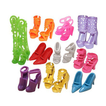 LeadingStar 10 Pairs Doll Shoes Boots Fashion Cute Assorted Shoes for Barbie Doll Accessories Play House Party Toys For Children
