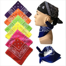 Hip-hop Kerchief Women Men Bandana Headwear Hair Band Scarf Neck Wrist Wrap Band Hair Styling Head Accessories Headband(China)