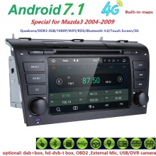 Free Shipping 2 DIN 7 Inch Android 7.1 Car DVD Player For Mazda 3 2004-2008 With 2GB RAM 4G DVR DAB+SWC RDS DVBT CAM-IN SD Radio
