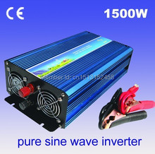 High power 1500W Pure sine wave Invertor 12V to 220V 50HZ 1500W, with 1 year warranty