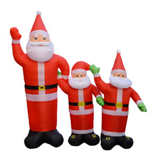 Clear Inventory 2.4m Chirstmas decoration supplies santa claus inflatable christmas,lowes christmas inflatable Santa Claus
