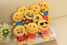 Multi Models Emoji 12CM Approx. 1Piece Random Design , Sucker Pendant Stuffed Toy , Wedding Kid Gift Toy Plush Doll(China)
