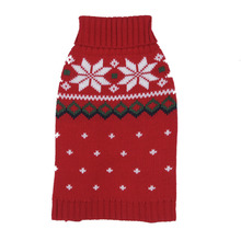 Christmas Festive Apparel Sweater For Pet Dog Cat Warm Clothes Sweaters Snow Design For Doggy Puppy Kitten Clothes for Dogs Cats(China)