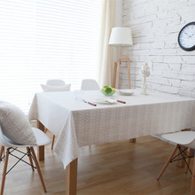 Tablecloths Wedding Party Rectangle Round Table Cloth Dinner Coffee Washable Covers Grey Cotton Geometric Home Decoration