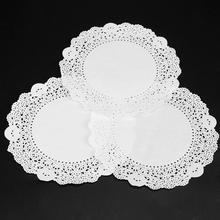 180Pcs/Pack White Round Lace Paper Doilies Vintage Cake Doyleys Placemat DIY Craft Wedding Christmas Table Decoration(China)