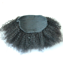 4B 4C Afro Kinky Curly Ponytails Clip In 100% Human Hair Honey Queen Non Remy Hair Natural Color