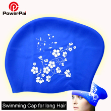 Women's Swimming Cap for Long Hair Waterproof Silicone Protect Ears Swim Caps Ladies Diving Hood hat for girls gorras piscine