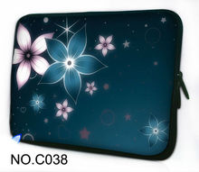 "Cute Flowers green  Soft Neoprene Laptop Sleeve Case Bag Pouch Cover For 13"" 13.3"" Macbook Pro / Air New Model,Dell XPS"