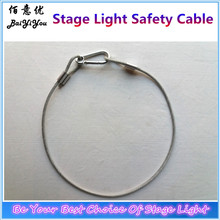 100Pcs/Lot Safety Cable For Super Beam Moving Light and 7R Beam Moving Light 4mm*85cm,Bear 25kg China Stage Light Accessory