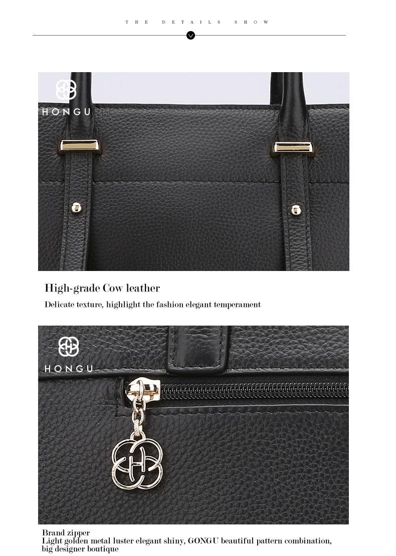 Famous luxury Brands Women Genuine Leather Bag Ladies Tote Embossed leather Boston handbags 2017 Fashion Female Versatile Bag H51340227 (11)