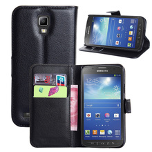S4Active for Samsung Galaxy S4 Active i9295 Flip Leather Case Wallet Card Stent Cases Lichee Pattern 9225 Cover Samsung9295(China)