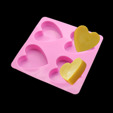4 Cavities Silicone Cake Mold Handmade Soap Love Modeling And Love Chocolate Cake Decorating Tools Diy Baking Tools(China)