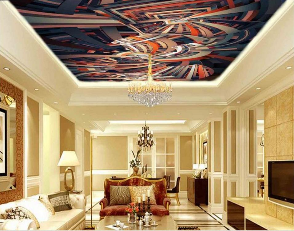 European Ceiling Murals Wallpaper Stereoscopic Decorative Pattern 3d Photo Wallpaper Large 3d Ceiling 3d-room-wallpaper <br>