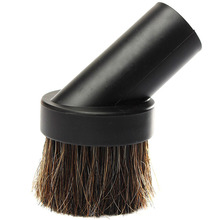 Horse Hair Round Dusting Brush Dust Tool Attachment fr Vacuum Cleaner Round  KT0183