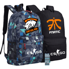 Men Women Boys Girls Unisex Fnatic Virtus.pro Dota 2 CS CSGO Printed Backpack Bag Canvas School Book Bags
